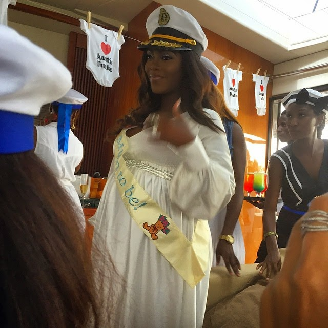 tiwa savage baby shower