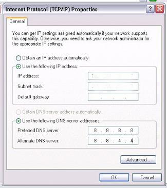 Cara merubah DNS ke DNS Google untuk Windows XP.