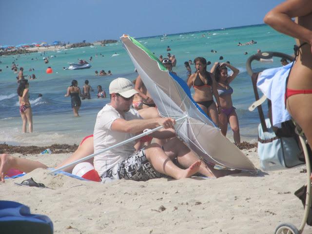 umbrella,miami beach,beach scenery