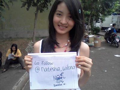 Natasha+Wilona Artis Remaja Indonesia Paling Cantik