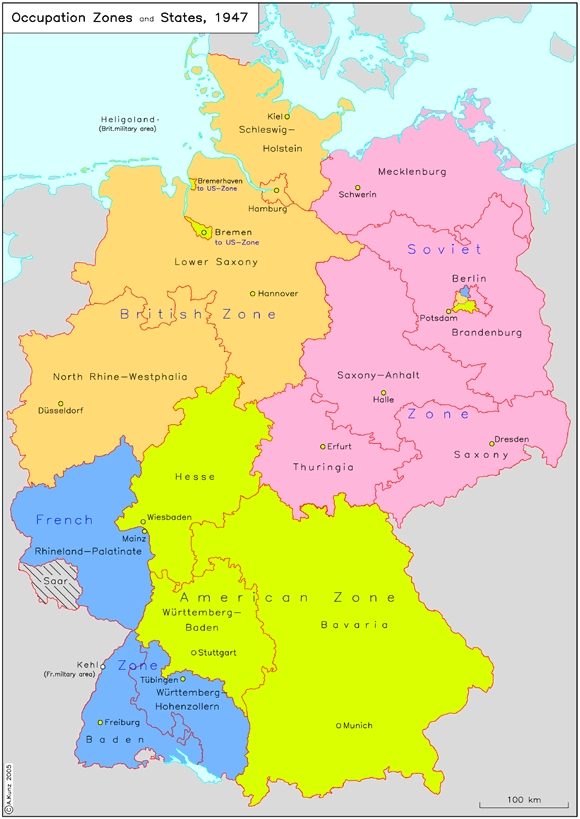 Time Zones In Germany Map