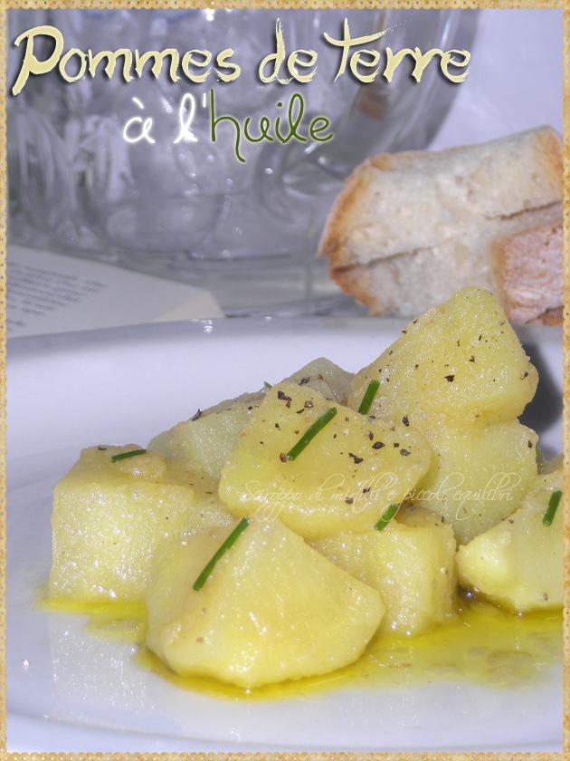 Patate con olio extra vergine di oliva aglio vino bianco aceto e brodo di carne