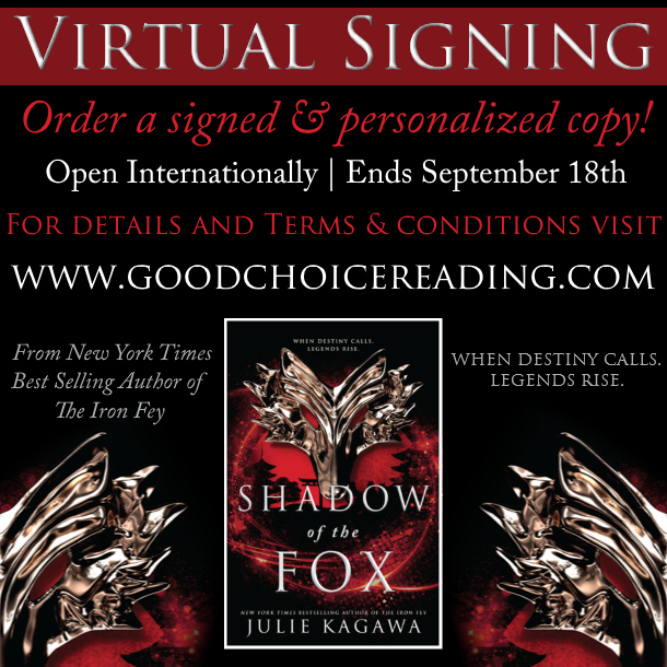 Shadow of The Fox by Julie Kagawa Virtual Signing!