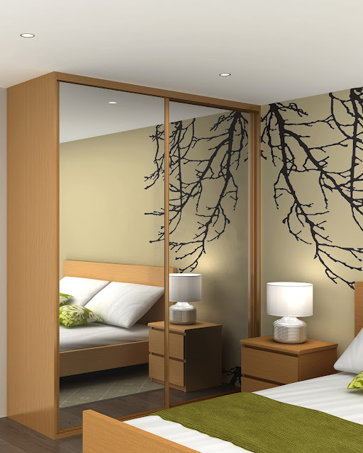 The happy turtle guest post mirror wardrobes smart choice for small spaces - Closet doors for small spaces pict ...