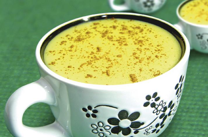 Curau com leite de coco light