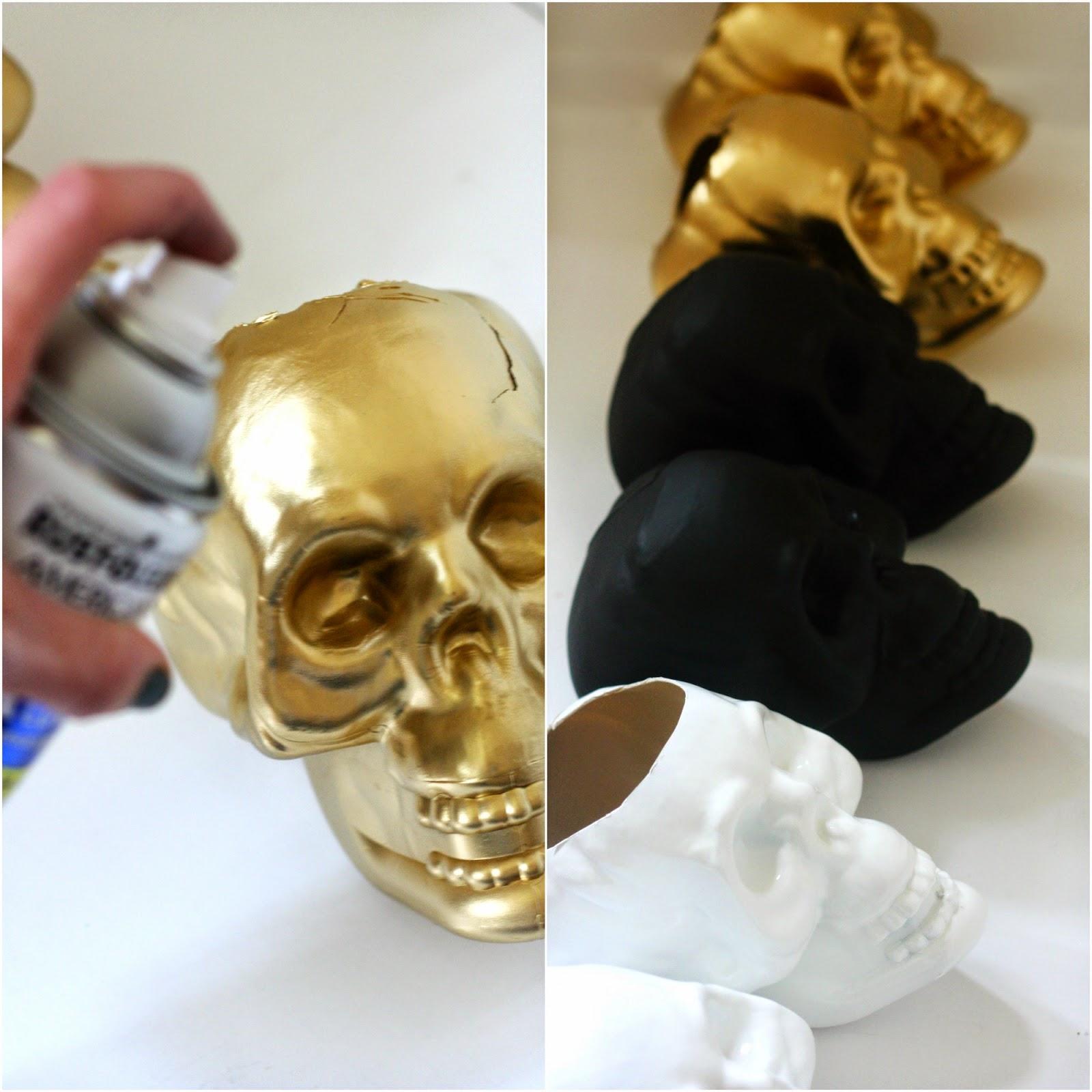 DIY Upcycled Dollar Store Skulls The Pretty Life Girls