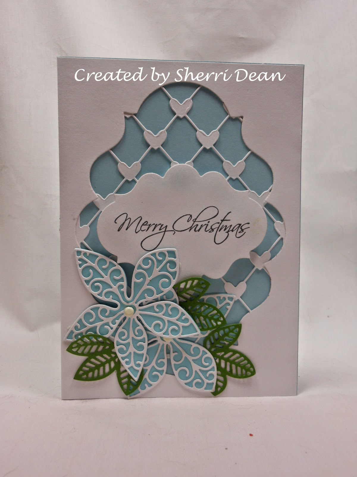 i used the following dies for this card poppy stamps small luxe poinsettia background poppy stamps small luxe poinsettia outline spellbinders labels - I Ll Have A Blue Christmas