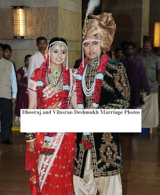 Dheeraj and Vilasrao Deshmukh wedding Photo