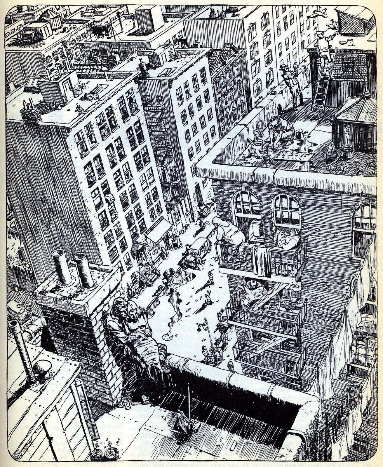 New York Building Comic Book