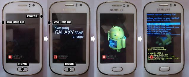 Cara Masuk Recovery Mode Samsung Galaxy Fame S6810