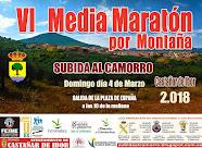 CARTEL  VI MEDIA MARATON POR MONTAÑA SUBIDA AL CAMORRO
