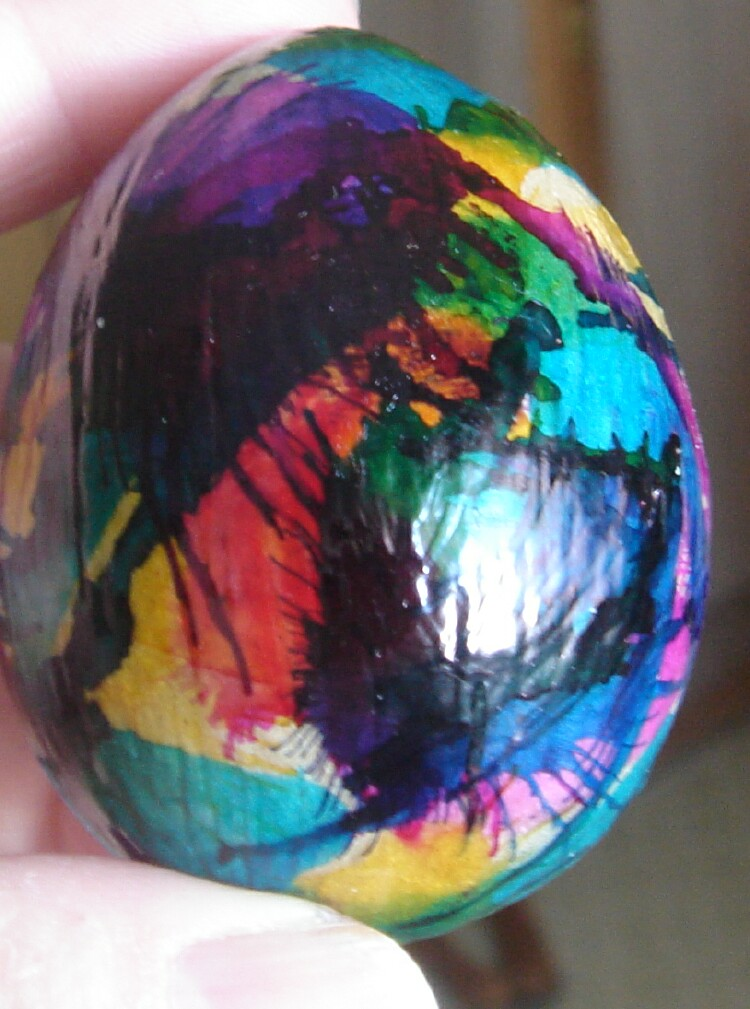 All thumbs crafts how to decorate paper mache easter eggs for Craft masks to decorate