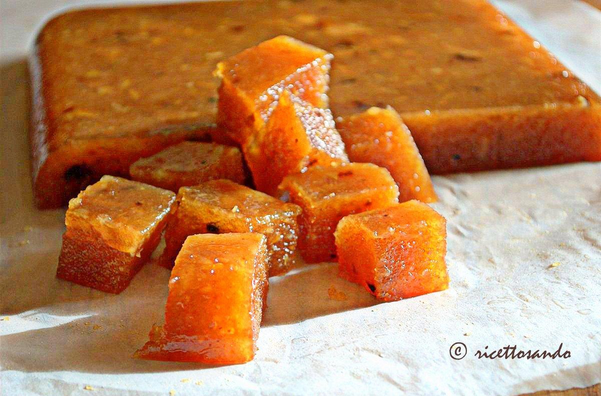 Cotognata e mele cotogne  gelèe di cotogna ricetta dolce tagliamo a tranci