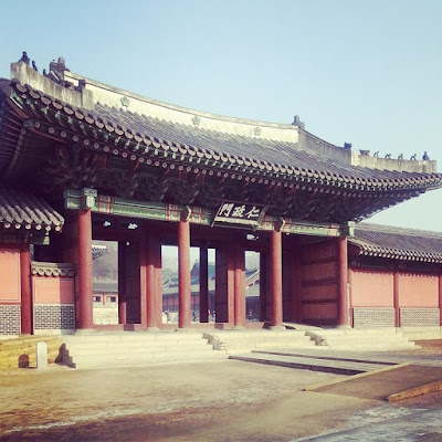 One Cold Morning at Changdeokgung Palace, Seoul