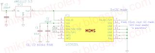 Akcelerometr LIS302DL - Schemat podłączenia.