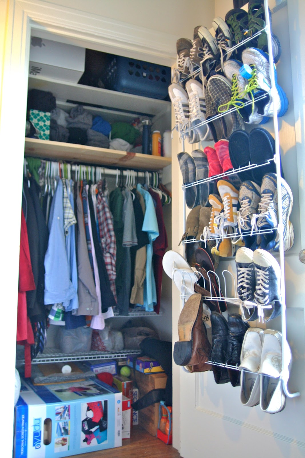 It 39 s my intention small space living maximizing closets for Maximize small closet