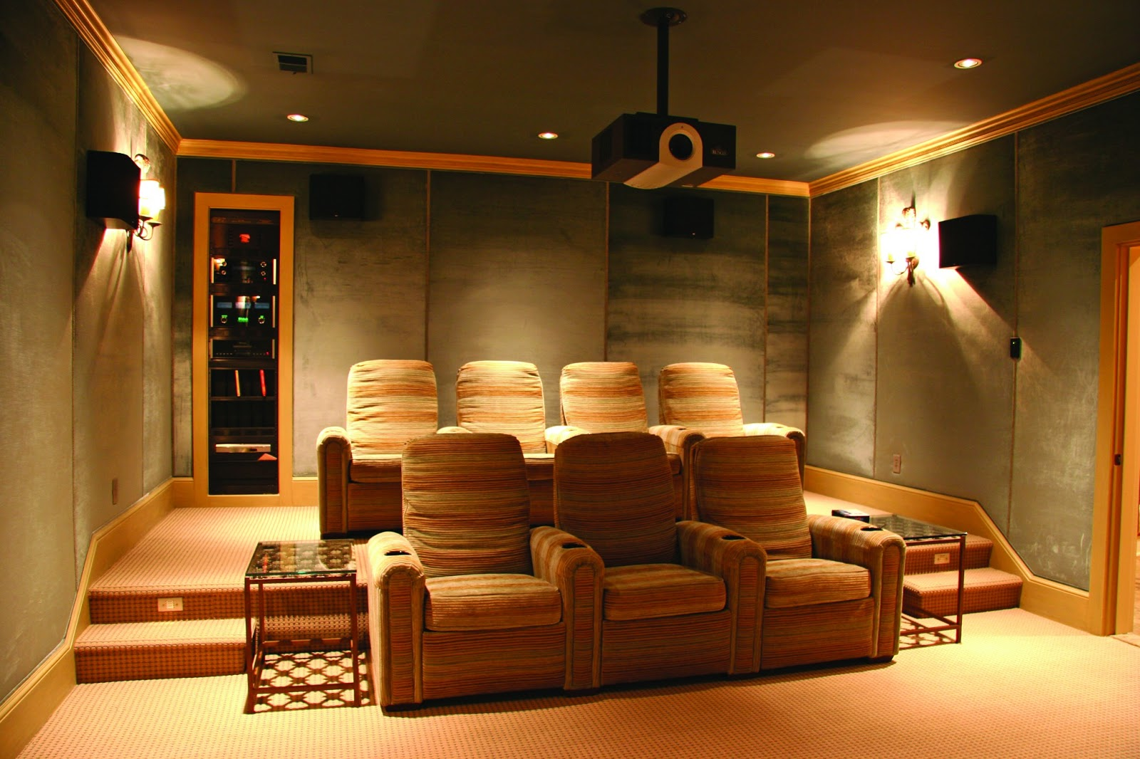 The home care the home theatre effect Home theatre room design ideas in india