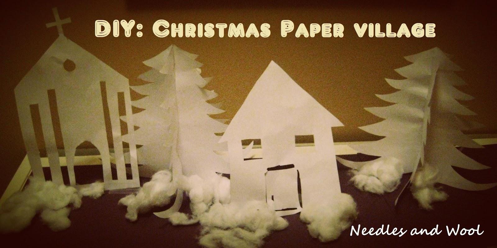 DIY Christmas Village
