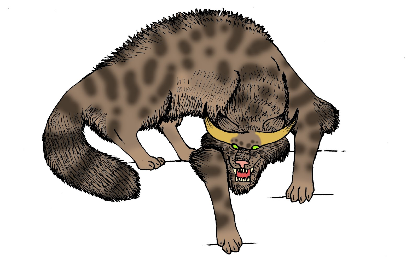 The Word Demons with Tail Clip Art