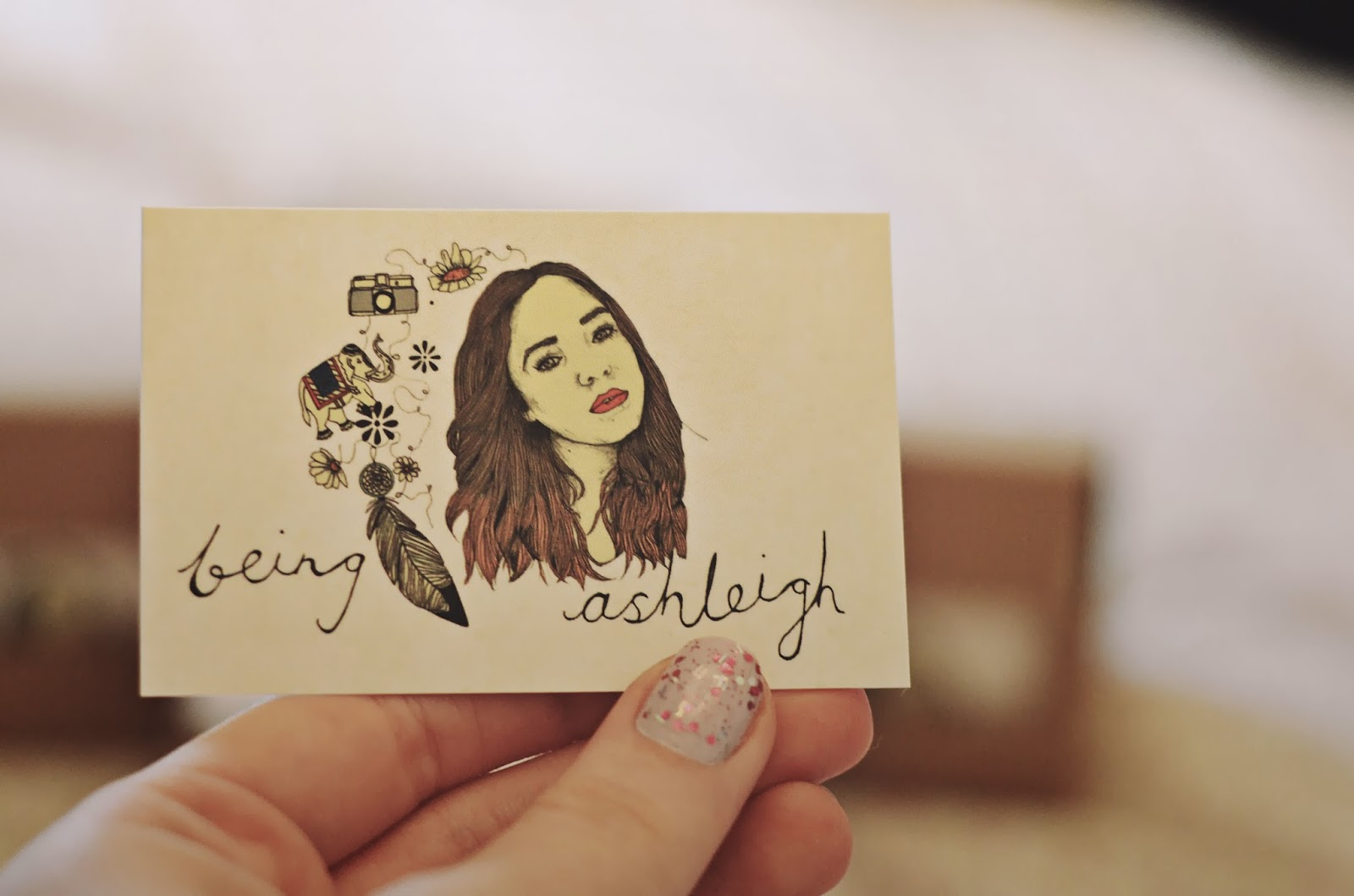 instant print blog business cards | BEING ASHLEIGH
