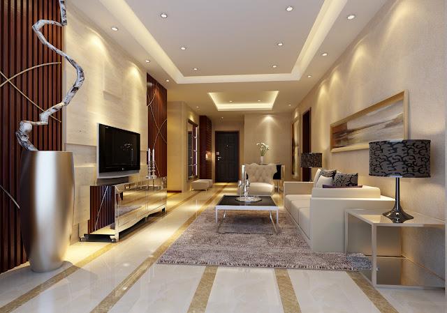 Mẫu trần thạch cao phòng khách chung cư sang trọng