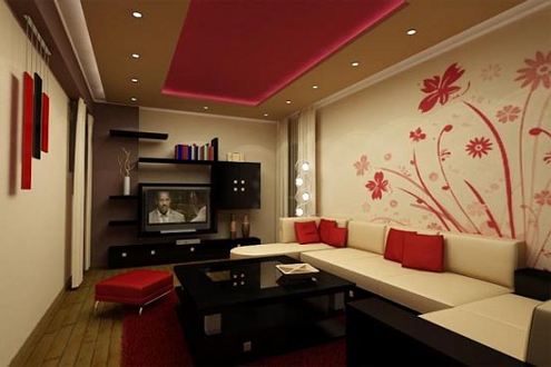 Interior decoration for Living hall interior design
