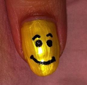 nail me, nail art, smiley, emoticon