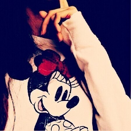 Girl Face Hide With Mickey Mouse 2015