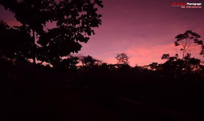 Purple Sky in the Morning in Yogyakarta - Indonesia