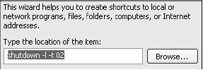 Shortcut Log-Off