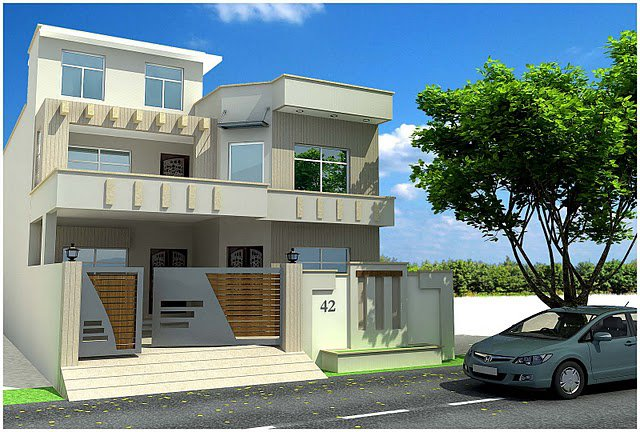 3D Front Elevation: Pakistan Beautiful Front ELevation of House ...