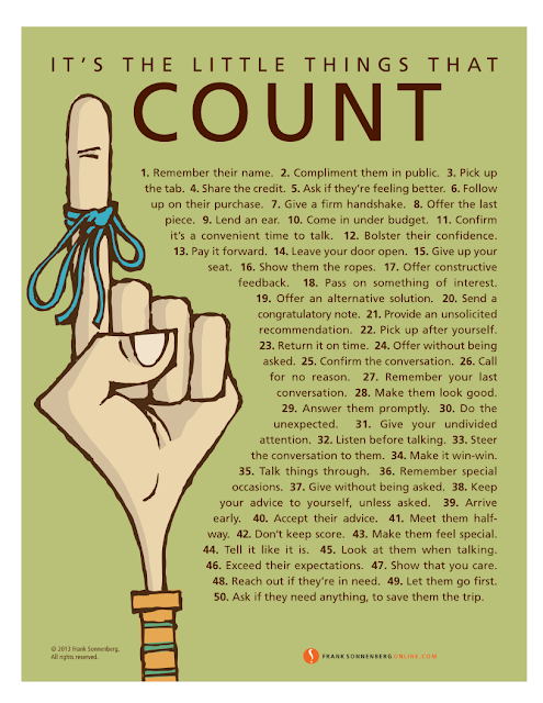 It's The Little Things That Counts by Frank Sonnenberg