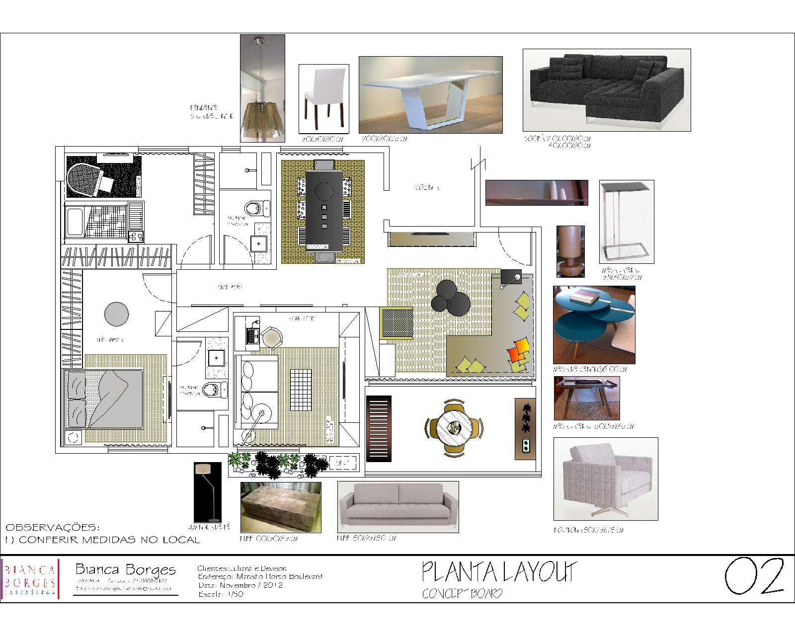 Concept board for Concept sheet for interior design
