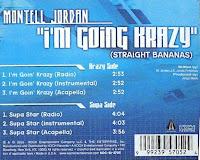 Montell Jordan – I\'m Going Krazy (Straight Bananas) (VLS) (2003)