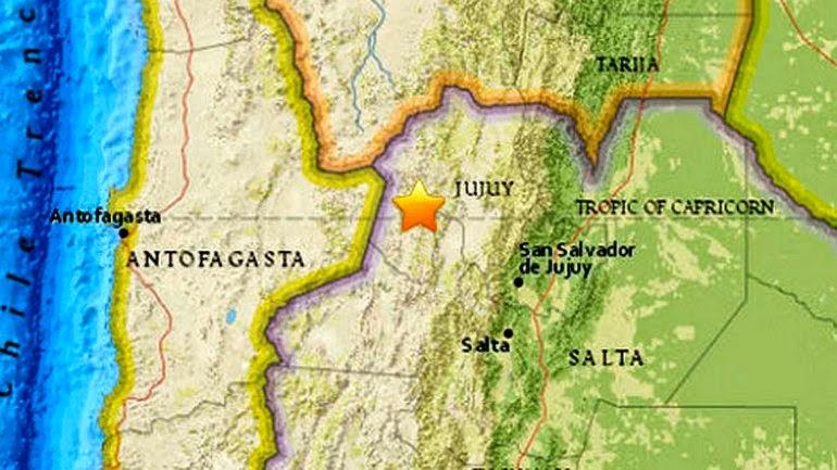 Sismo de casi 7 grados de magnitud fue sentido en Chile, Argentina y Perú