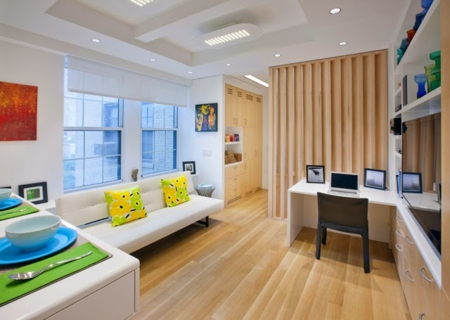 20 ideas for designing a small studio apartment for Studio apartment area