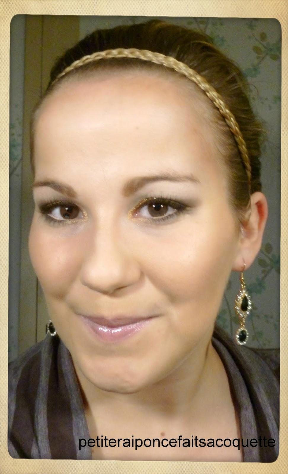 Petite raiponce fait sa coquette tuto maquillage pour les f tes nuances d 39 or - Raiponce petite ...