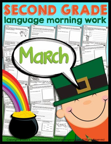 Second Grade Language Morning Work: March