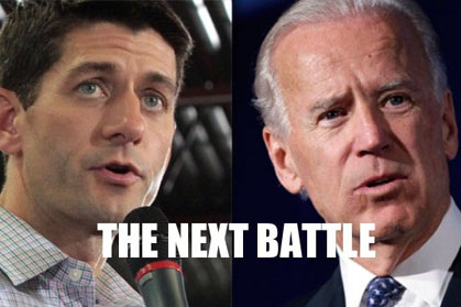 Irish American politicians Paul Ryan and Joe Biden gear up for their first major battle