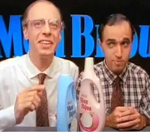 Propaganda do amaciante Mon Biju com Carlos Moreno e Fernandinho (USTOP). Dois garotos-propagandas de sucesso dos anos 90.