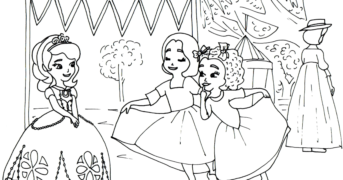 sofia the first coloring pages sofia the first coloring page with ruby and jade