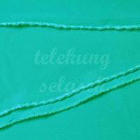 Telekung lycra hijau turquoise jahitan karipap di tepi