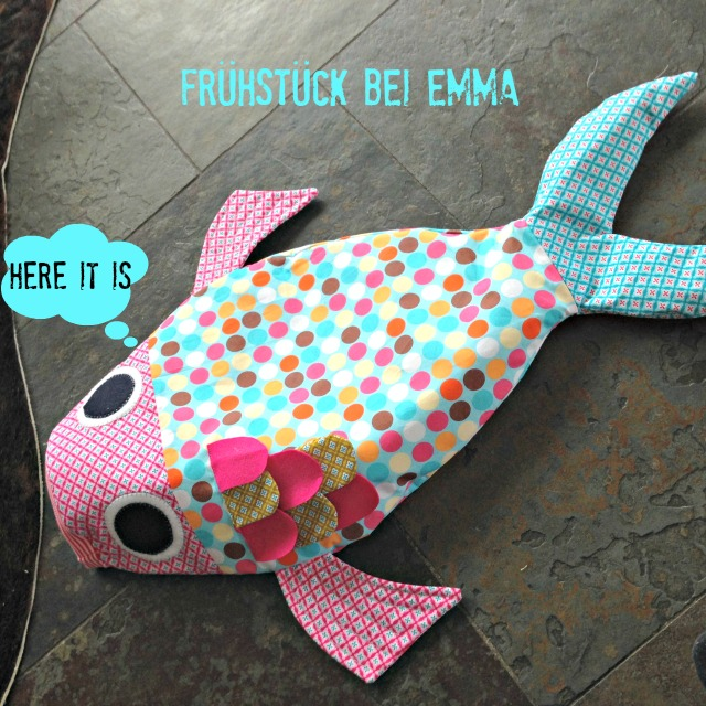 Frühstück bei Emma Fisch Sachenfinder Sachen finden Fisch aus Stoff genäht