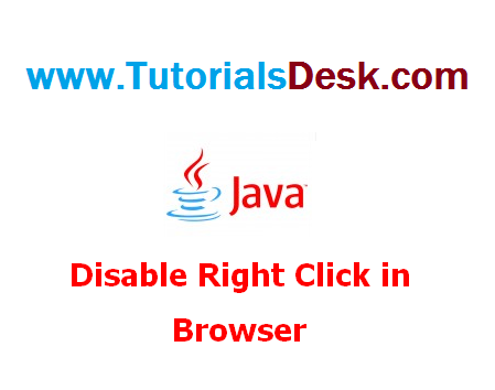 Disabling Right Click option in a browser using Javascript