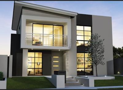 Desain Rumah Minimalis 2 Lantai 8x12