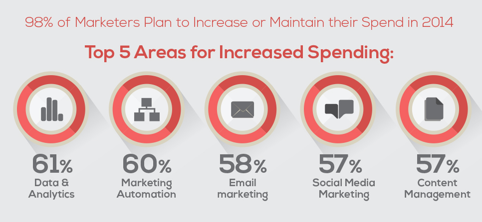 how is the digital marketing budget divided