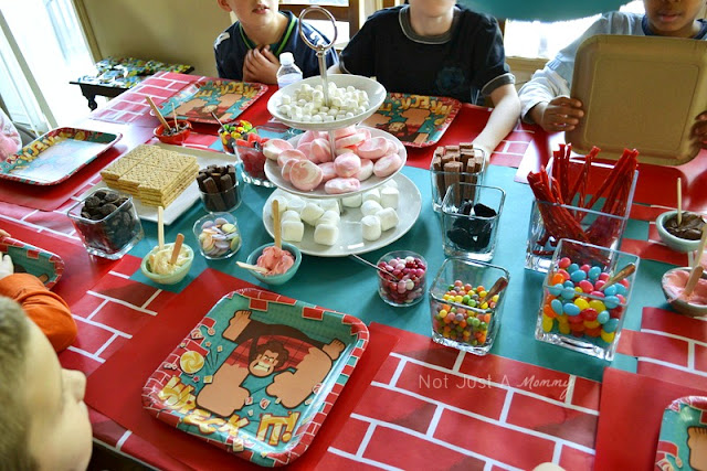 Wreck It Ralph Birthday Express movie party candy karts table