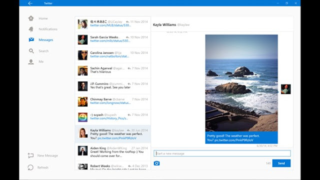 twitter windows10-profile view