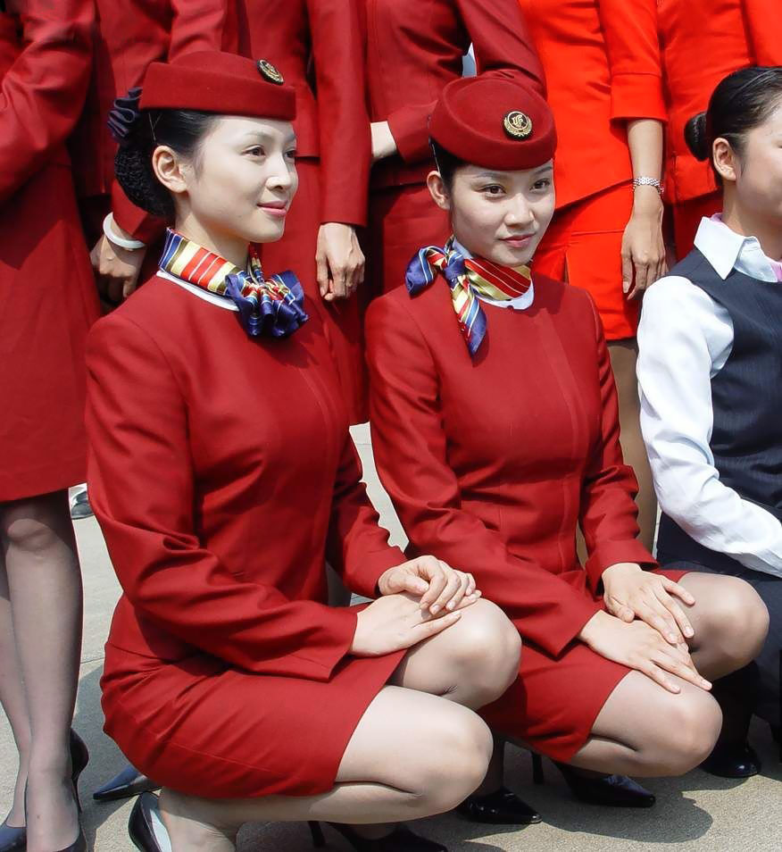 A chinese airline stewardess loves sex 8