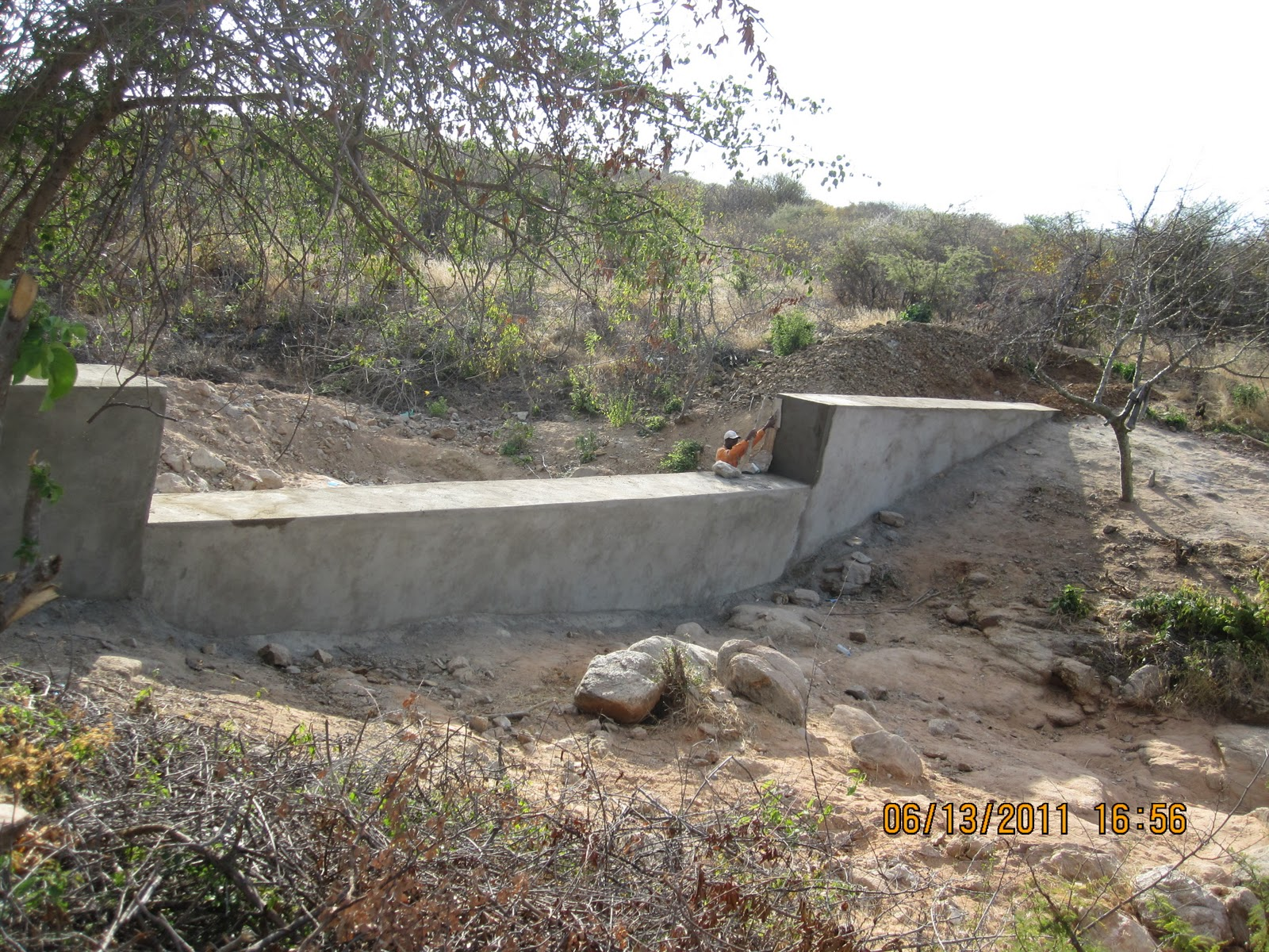 Dam Construction in Tanzania Sand Dam Constructed May